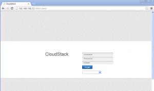 cloudstack-login
